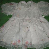 Vestido Princesinha - 6 a 9 meses - Não informada