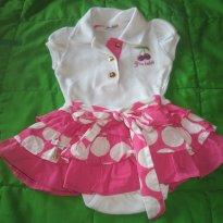 Body com saia Gira Baby - 3 a 6 meses - GiraBaby