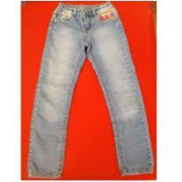 Calça Jeans com bordado - 6 anos - Palomino