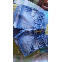 Short Jeans Charmoso 3  !!! - P - 38 - Cia fashion