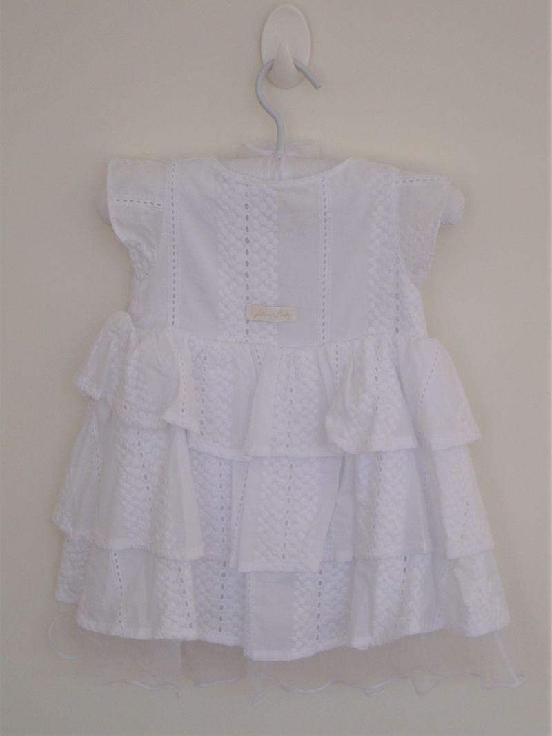 9cae46bdb0 Vestido Branco Lilica 6 a 9 meses no Ficou Pequeno - Desapegos de ...