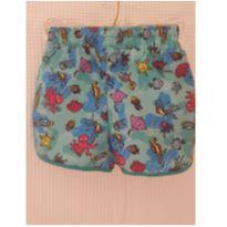 Shorts tactel fundo do mar - 4 anos - Rovitex Kids
