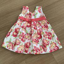Vestido Flores - 9 a 12 meses - Essência Viva