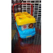 Ônibus Encaixe Azul com Amarelo Baby Fun -  - Babyfun