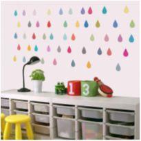 adesivo gotas lindo para decorar com 20 unidades -  - Não informada