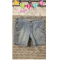 short jeans infantil menina 6/7 anos para sua princesa - 6 anos - n