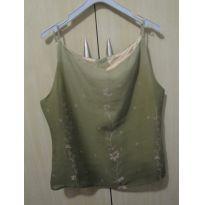 Blusa de alça verde p
