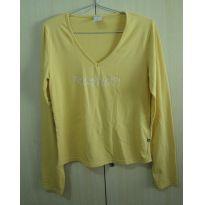 Blusa manga longa amarelo M - M - 40 - 42 - Lunender