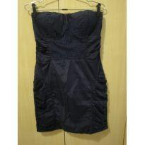 Vestido Azul marinho M - 14 anos - sem etiqueta