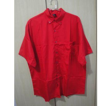 Camisa social masculina vermelha G - G - 44 - 46 - Não informada
