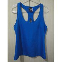 Camiseta cetim azul 36 - 14 anos - clock house