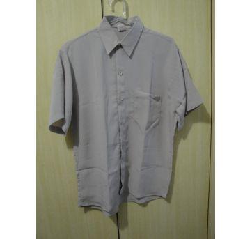 Camisa social masculina creme p - P - 38 - Não informada