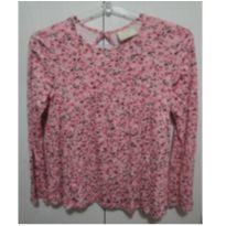 Batinha manga longa florida rosa 12 - 12 anos - Palomino