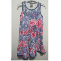 Vestido estampado azul 10 - 10 anos - Malwee