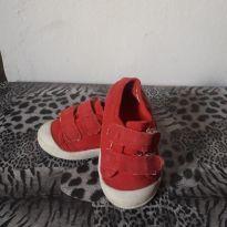 Tênis lona babo velcro vermelho - 22 - Babo Uabu