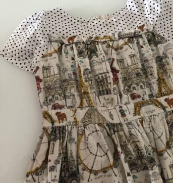 Vestido Fábula estampa Paris - 2 anos - Fábula