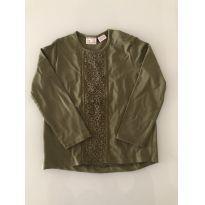 Camisa malha manga longa verde musgo - 3/4 anos - Zara - 3 anos - Zara