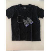 Camiseta preta Binóculos Wally - Reserva - 6T - 6 anos - Reserva mini