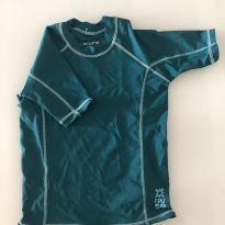 Camiseta praia UV Line - verde - 6 anos - 6 anos - Uv line