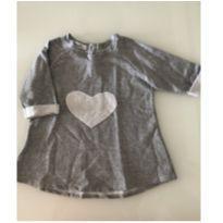 Vestido de moletom - cinza mescla - 4 anos - 4 anos - Não informada