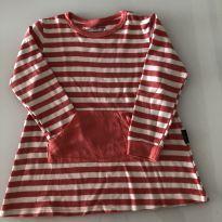 Vestido de malha - BB Básico - listrado - 4 anos - 4 anos - BB Básico