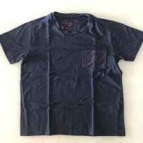 Camiseta Reserva - azul com bolso - 6 anos - 6 anos - Reserva mini