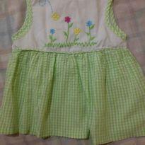 Vestidinho verde xadrez - Recém Nascido - Mon Petit