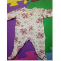 Macacão de florzinha - Recém Nascido - Vitamins Baby