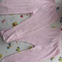 Calça com pézinho (mijaozinho) - 3 a 6 meses - Lua da Lenda/ top chot
