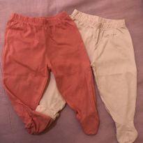2 calça com pezinho - 3 a 6 meses - Cortei etiqueta