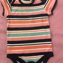 Body manga curta - 0 a 3 meses - Baby clube