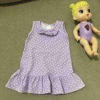 Vestidinho lilás - 3 meses - Sem marca