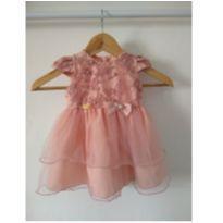 Vestido de festa rose - 6 a 9 meses - Não informada