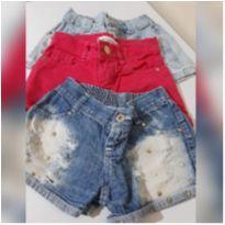 Lote Shorts Jeans - 3 anos - nacionais varias