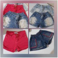 Shotrs Jeans Menina - 4 peças 16,00 cada
