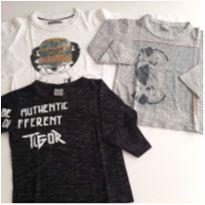 Lote 3 Camisetas manga longa Tigor (Original) 28,00 cada - 2 anos - Tigor Baby