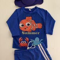 Camiseta Praia Uv Proteção Solar Infantil Personagem + Sunga - 2 anos - Bebe Produtos Nacional