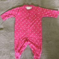Macacão coração rosa - 6 meses - B de bebe