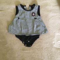 Body vestido baby Corinthiana - 3 a 6 meses - Corinthians oficial