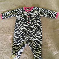 Macacão pijama zebrinha - 6 meses - Carter`s