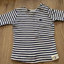 Camisetinha azul e branca - 6 meses - Carter`s