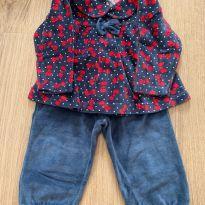 Conjunto azul e vermelho - 9 meses - Tip Top