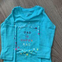 Camiseta azul - 9 meses - Carter`s