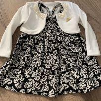 Vestido e bolero preto e branco - 6 meses - Não informada