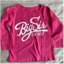 Camiseta Big Sis - 2 anos - Carter`s