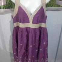 vestido bata bordado - G - 44 - 46 - Anne Kanner