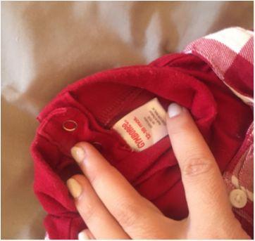 Camiseta xadrez branca e vermelha - 12 a 18 meses - Gymboree