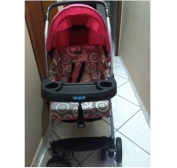 Carrinho de Bebê Burigotto AT6 K - Bike Rosa - Sem faixa etaria - Burigotto