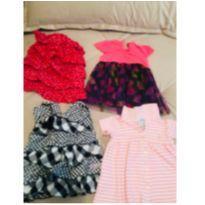 Lote/kit com 4 vestidos - 3 a 6 meses - Ralph Lauren e Calvin Klein