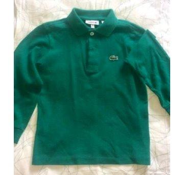 Camiseta polo manga comprida Lacoste 4 anos no Ficou Pequeno ... fd990d7281